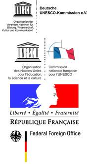 Logos of the German and the French Commission for UNESCO and the Foreign Offices of France and Germany